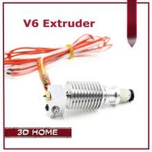 Экструдер 3D V6 3D Печати j-глава hotend для 1.75 мм/3 мм Прямой Нити Уэйд Экструдер 0.2/0.3/0.4/0.5 мм Сопла долго расстояние