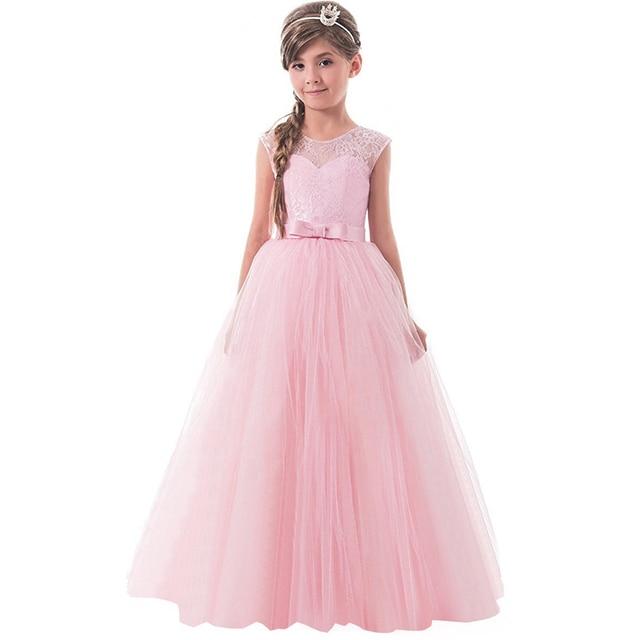 Flower Girls Dress Teenager Princess Wedding Party Kids Costume ...