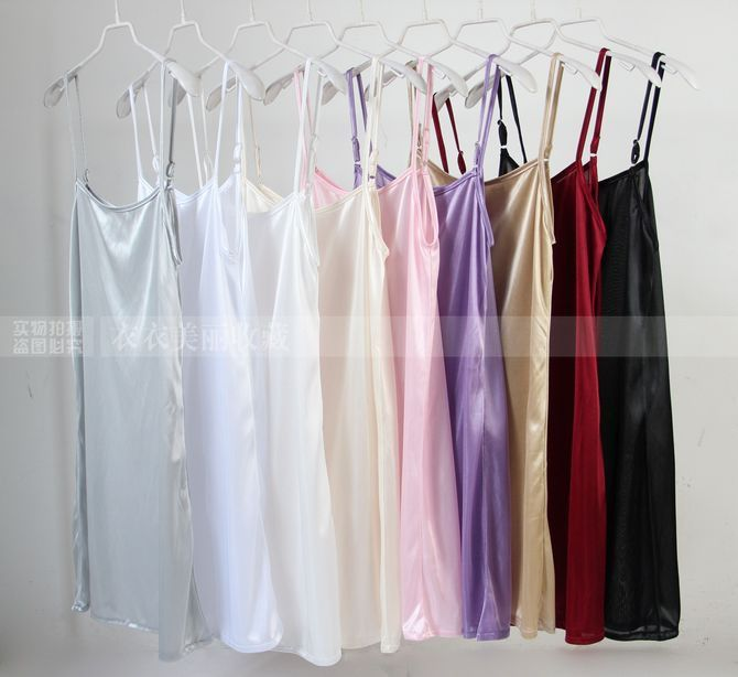 Spaghetti Strap Tank Underskirt Women Spring And Summer Medium Long Slip Dress Basic Underskirt One-piece Full Slip Petticoat