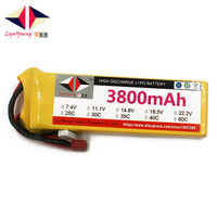 LYNYOUNG rc lipo 3S battery11.1V 3800mAh 25C for Airplane Quadrotor Helicopter