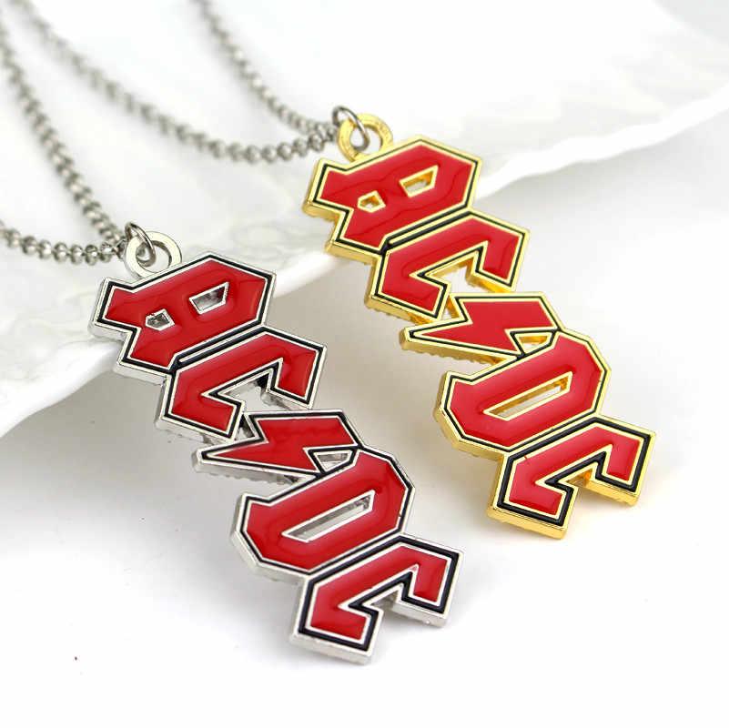 AC/DC ネックレスハードロックロール音楽バンドペンダントネックレス
