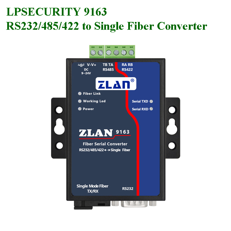 Serial To Fiber RS232 RS485 RS422 Port To Single Mode Single Fiber SC Interface Serial-TCP/IP-Optical Photoelectric  Converter