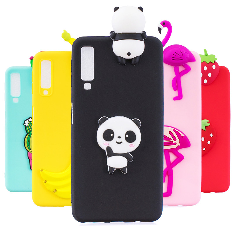 A7 2018 Case on For Coque Samsung Galaxy A9 2018 case Soft TPU Cover For Samsung Galaxy A7 2018 Cartoon Dolls Toys Phone Cases