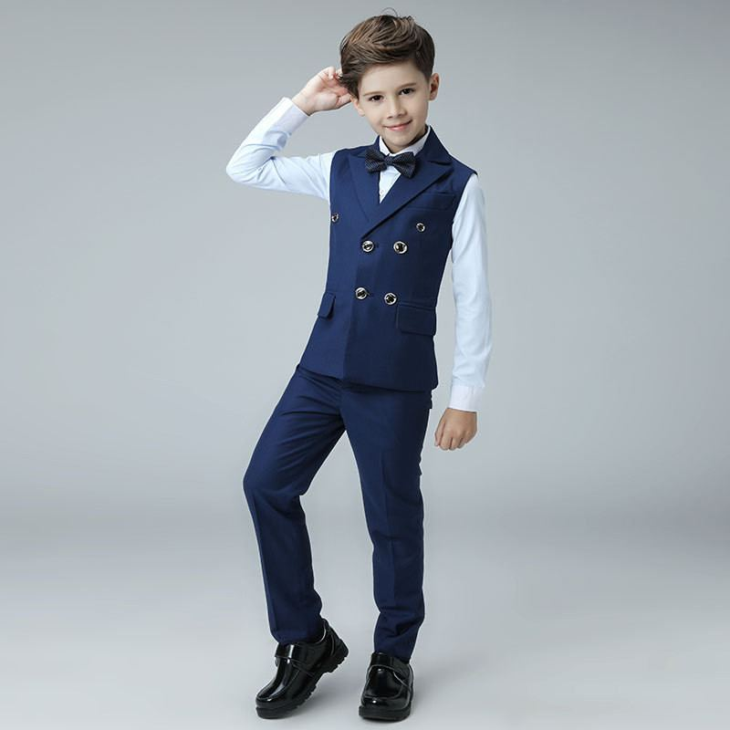 New Kids Boys Suit For Piano Wedding Party Children Boys Vest+Pant+Shirt+Bowtie Sets Baby Boy Suits Formal Clothing 4 Pcs Y101New Kids Boys Suit For Piano Wedding Party Children Boys Vest+Pant+Shirt+Bowtie Sets Baby Boy Suits Formal Clothing 4 Pcs Y101
