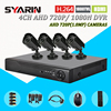 TEATE CCTV Safety AHD 4 Channel 1MP CCTV System 4CH Full 1080N DVR With 1800TVL 720P
