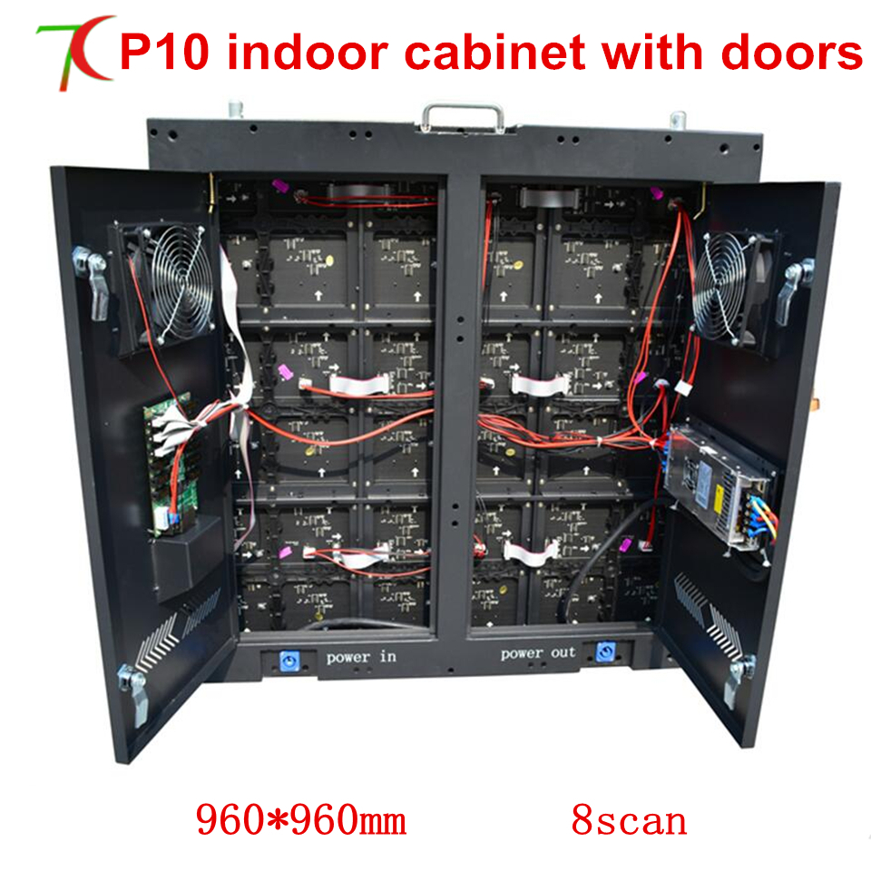 Factory Sales 960*960mm P10 Indoor 8scan Equipment Cabinet With Led Display
