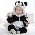 2016 Muchachas de Los Muchachos Del Mono Infantil Del Mameluco Del Bebé Recién nacido Ropa Bebe Ropa Linda de la Panda Del Bebé Del Mameluco Del Bebé Trajes de Niño Con Capucha