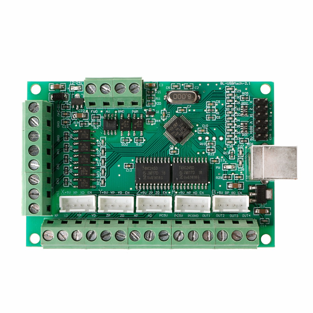все цены на New CNC USB MACH3 100Khz Breakout Board 5 Axis Interface Driver Motion Controller