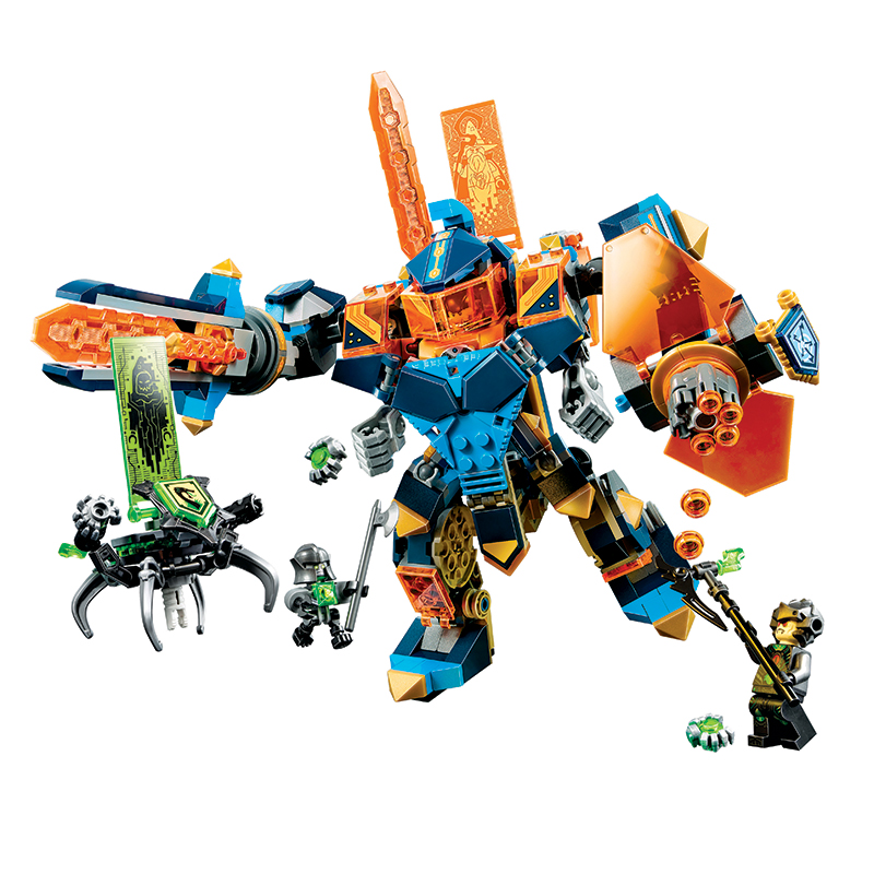 Bela Compatible Legoe Nexus Nexo Knights 72004 517Pcs High tech Magic Armored Building Blocks Bricks Toys Gifts for Children New