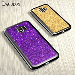 DAGUDON TPU Phone Case For Samsung Galaxy J2 2018 J250 Luxury glitter Silicon Case Cover For Samsung J2 2018 gold protector case