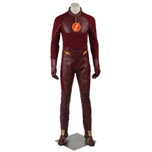 The Flash Barry Allen Cosplay Costume Outfit Superhero Halloween Men Adult Coat Suit Costume For Party Custom Made With Boots