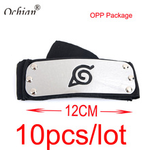10pcs/lot Naruto Rebel Headband Metal Size 4cm*12cm Anime Naruto Headwear Cosplay Headband