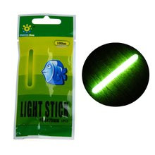 10bags 7.5X75MM Luminous Fishing Float Light Stick Tube Green Fluorescent Glow Stick Wand for Night Fishing Float Tool