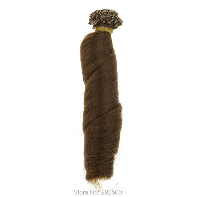 1 шт. 15*100 см BJD парик высокотемпературный модный многоцветный Синий Золотой коричневый розовый кудрявая кукла волосы для 1/3 1/4 BJD DIY для Барби