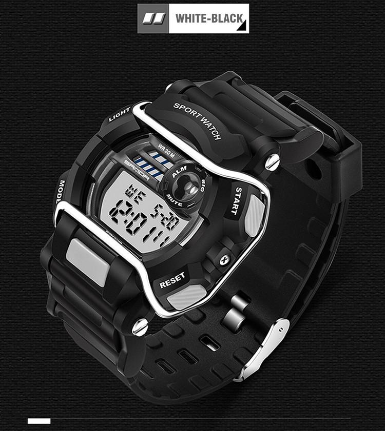 sanda luxury brand led digital watches fashion men\'s sports wristwatches drop shipping (45)
