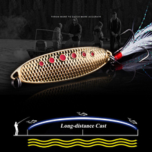 1pc 5 Colors Spoon Lure 15g-10g-7g 4.5cm-5cm-6cm Metal Fishing Bait Silver/Gold Spoon Bass Baits Feather Hook Fishing Tackle