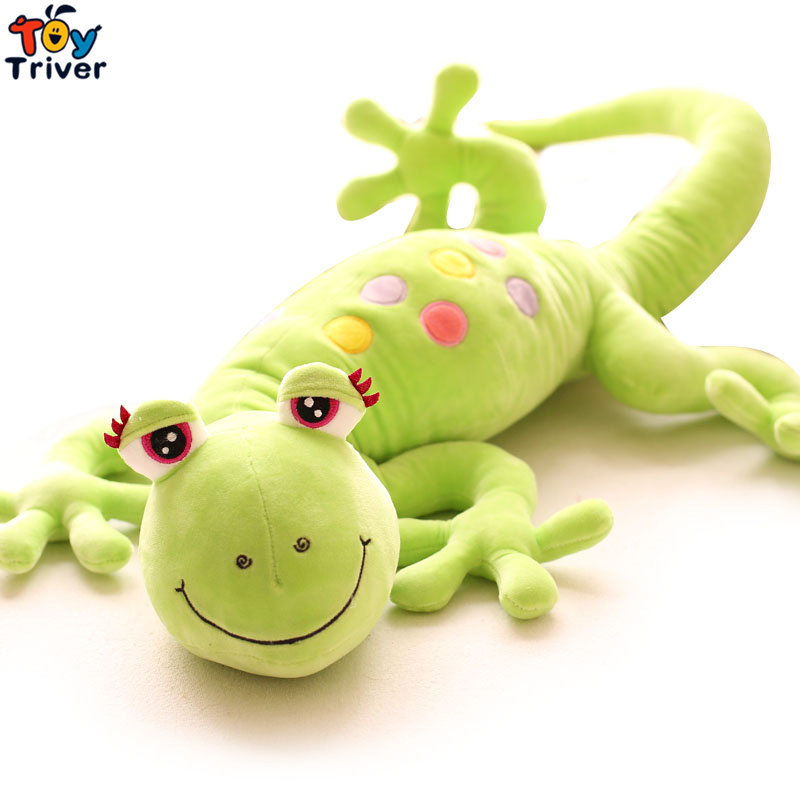 100cm Cartoon Plush Gecko Toy Pillow Cushions Lizard Stuffed Doll Baby Kids Children Creative Birthday Gift  Home Shop Decor 65cm plush giraffe toy stuffed animal toys doll cushion pillow kids baby friend birthday gift present home deco triver