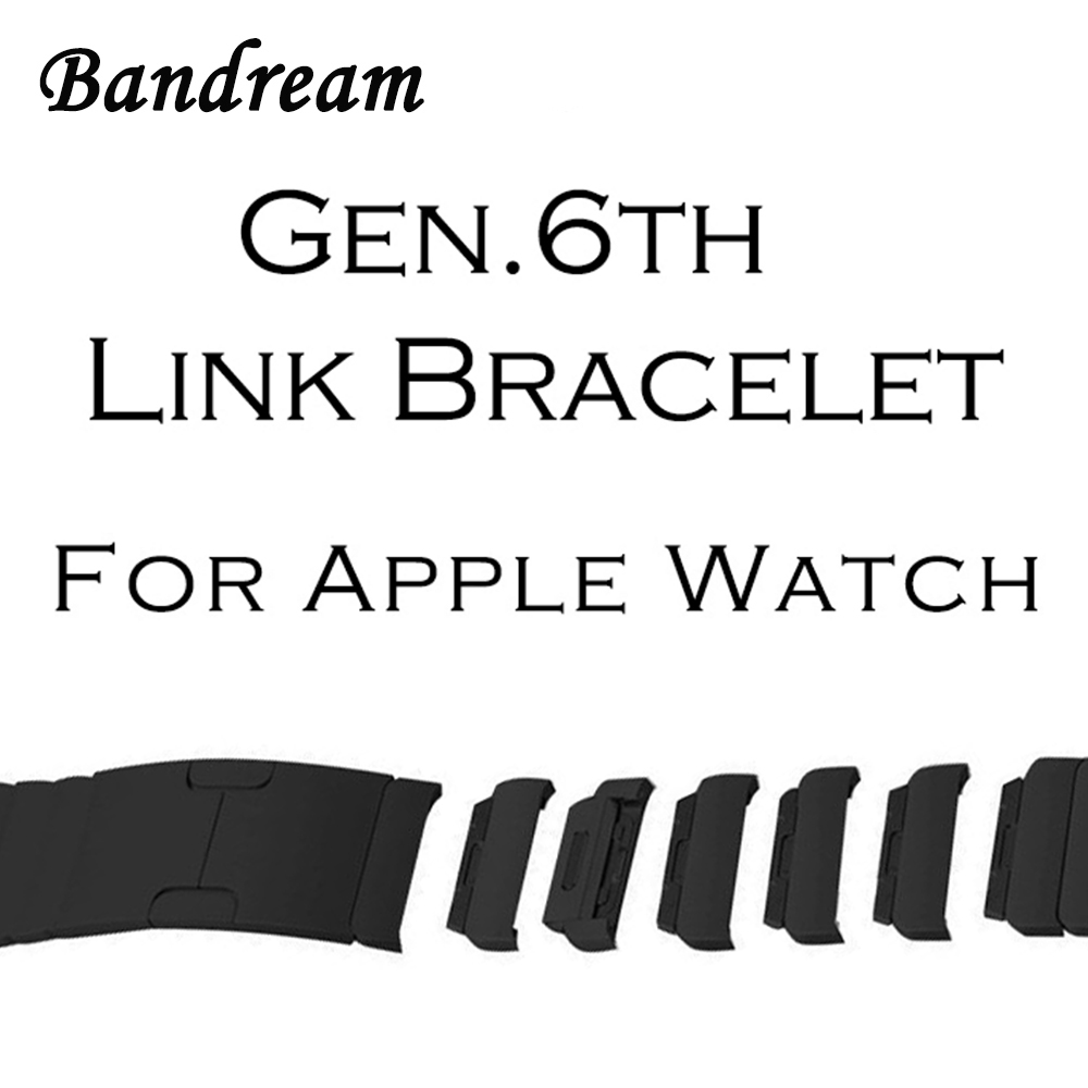 316L Stainless Steel Watchband for iWatch Apple Watch 38mm 42mm Series 1 2 3 Band Butterfly Buckle Strap Gen.6 Link Bracelet idg band for apple watch 42mm 38mm butterfly clasp stainless steel link bracelet strap for apple watch series 1 3 2 watchband