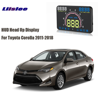 Liislee Car HUD Head Up Display OBD2 Interface E350 For Toyota Corolla 2011 2018 Plug&Play Vehicle Speed Warning