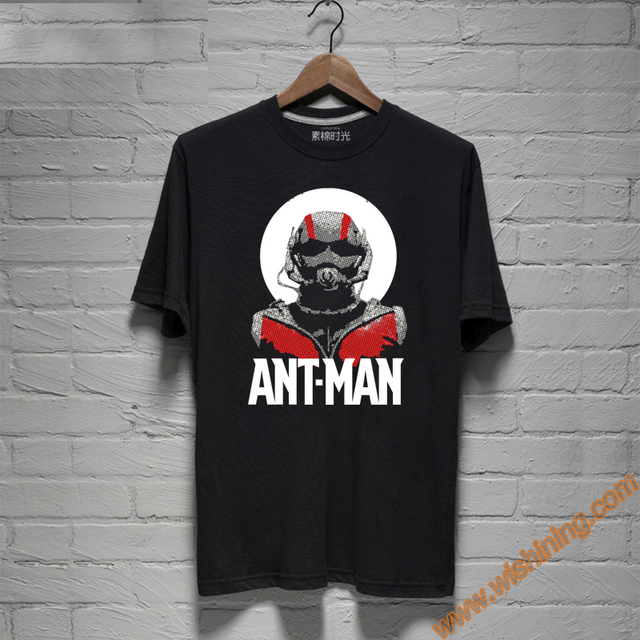 ae67bf7db Cool Black Marvel Ant Man T Shirts For Mens Wishining-in T-Shirts ...