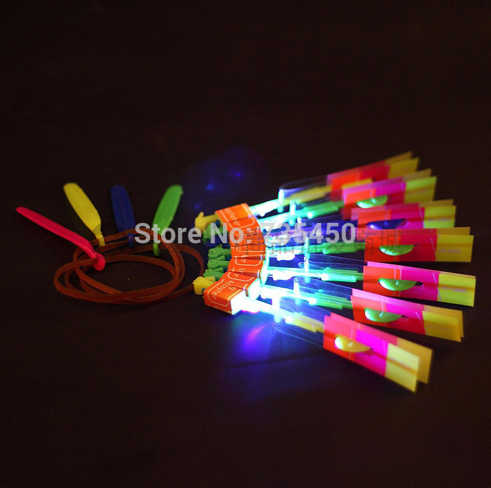 20pcs / lot LED flier flyer amazing arrow helicopter,light up flying arrow helicopter kids toys baby toy
