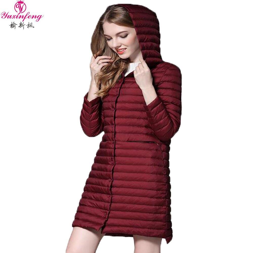 S-3xl plus size hooded ultra light downjackets women autumn winter thin long...