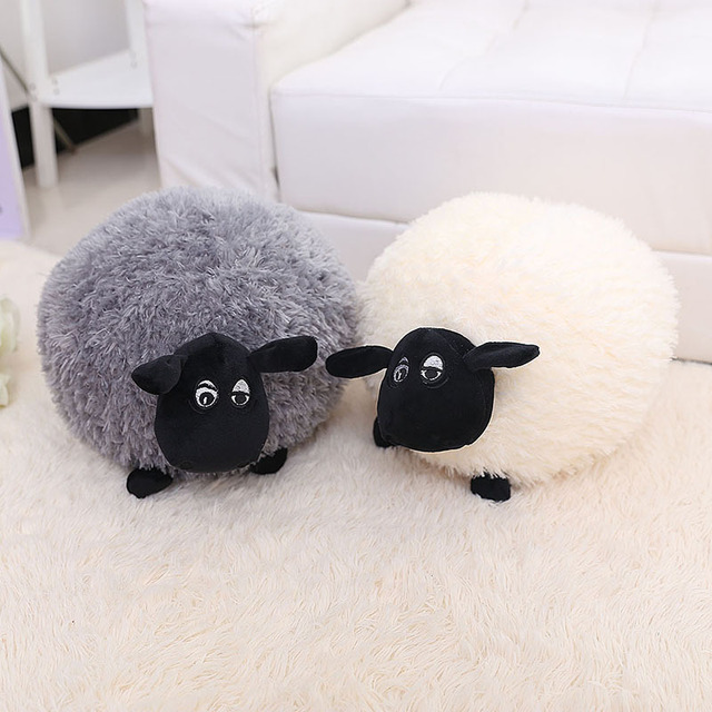 20 60cm Goat Grey White Sheep Stuffed Plush Toy Doll Animal Girl