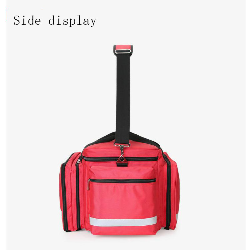 Image 4 - Outdoor First Aid Kit Outdoor Sports Red Nylon Waterproof Cross Messenger Bag Family Travel Emergency Medical Bag DJJB020-in Emergency Kits from Security & Protection