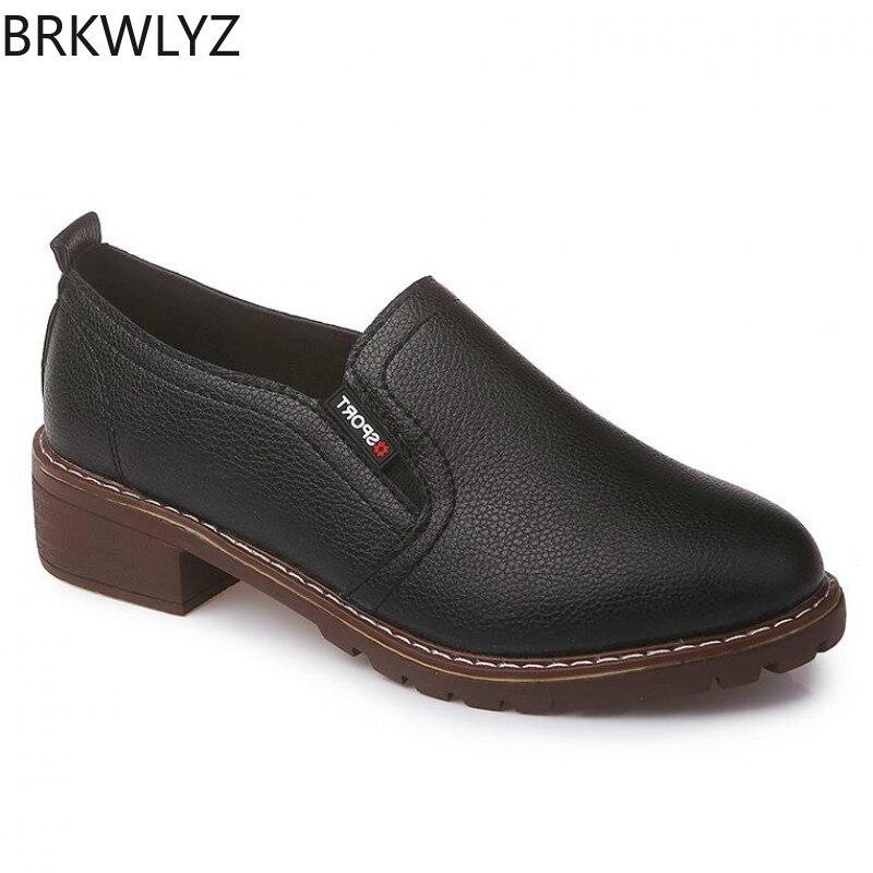 Schuhe Frauen Schuhe Effizient Brkwlyz 2019 Neue Komfortable Frauen Schuhe Freizeit Flache Schuhe Mode Runde Kappe Niedrigen Zu Helfen Oxford Schuhe Klassische Frauen Schuhe
