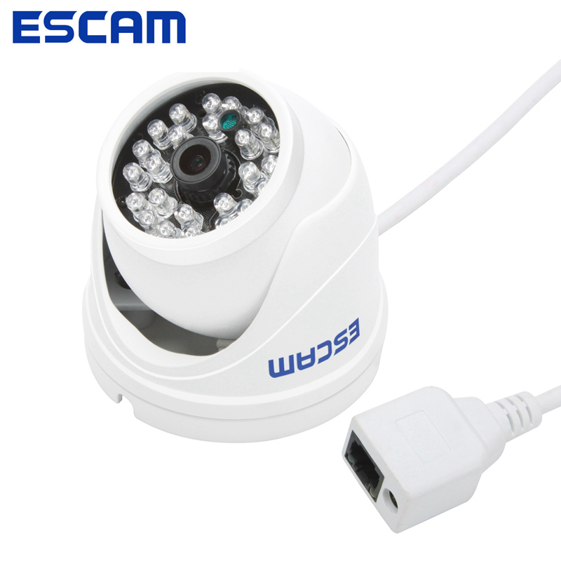 Escam QD520 720P IP Security Camera Dome Cameras 10M Infrared Peashooter HD P2P Cloud 3.6mm Lens 70 Degree Support ONVIF