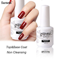 Sarness 15ml Nail Gel Polish UV LED Soak off Gel Nail Polish professional Base Gel Top Coat Finish Cover Gel Polish