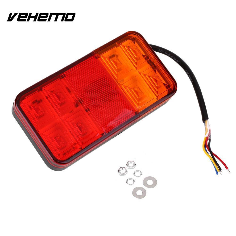 Vehemo 1 Pcs 10-30 V 8-LED Voiture Remorque Arrière Feu arrière Lampe Feu Arrière Étanche
