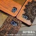 Alta qualidade de madeira de madeira case para samsung s6 nova capa natural real de bambu escultura em madeira tampa traseira para samsung galaxy s6