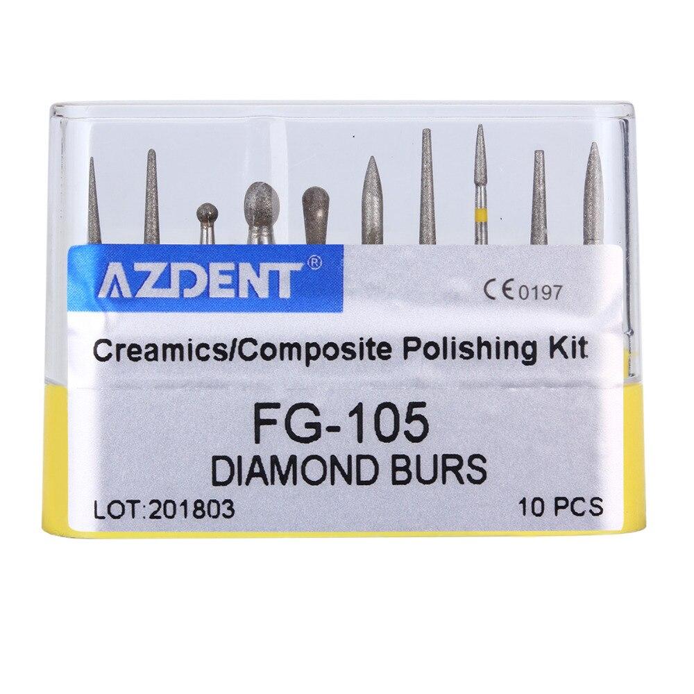Dental Diamond Burs Drill Dia-burs For High Speed Handpiece Medium FG101 102 103 104 105 Dentist Tools Dentistry Lab