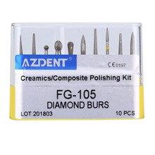 Стоматологические алмазные боры дрель Dia-Burs для высокоскоростного наконечника среднего размера FG101 102 103 104 105 стоматологические инструменты Стоматологическая лаборатория