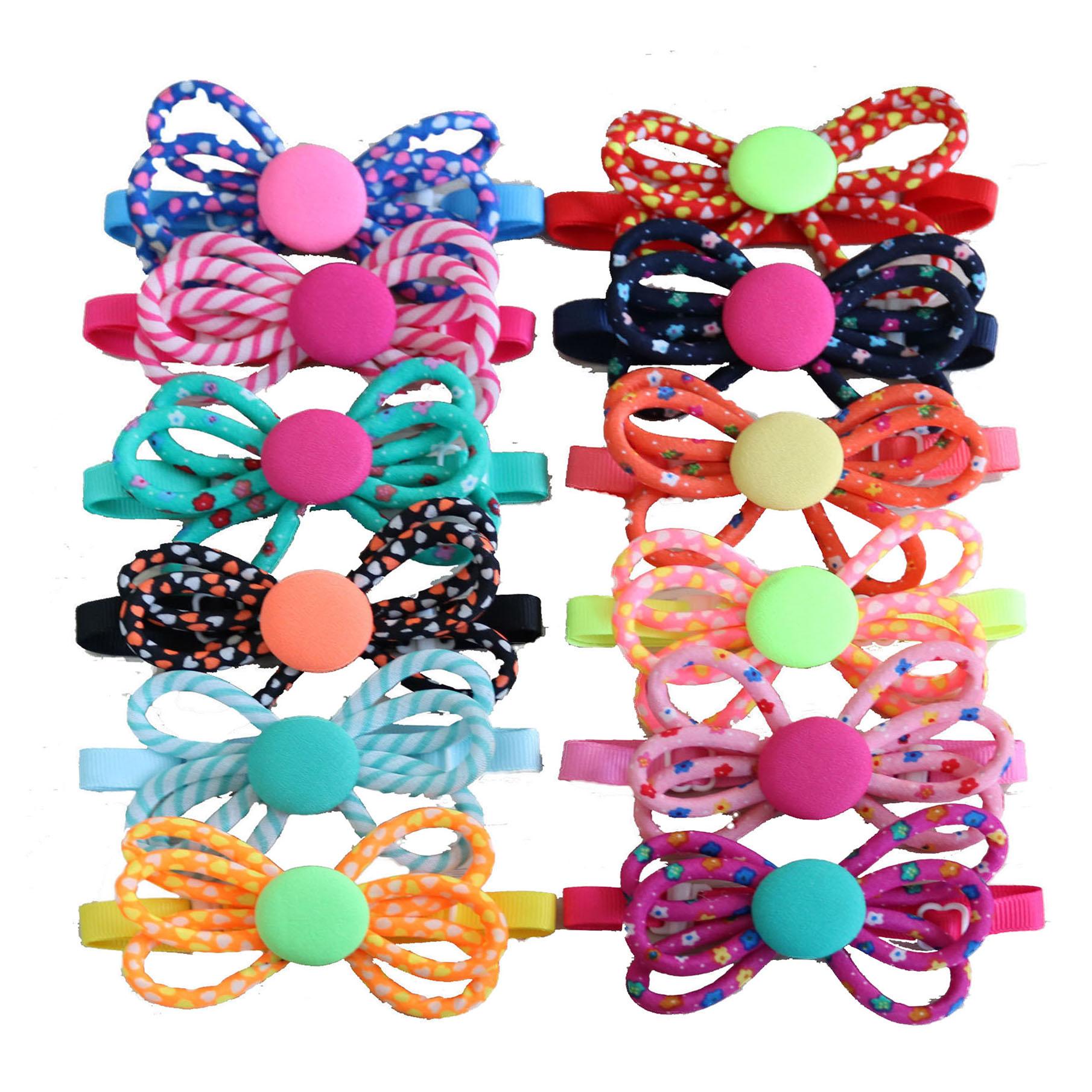 100pcs Pet Bow Tie Dog Accessories Hand made Adjustable Pet Dog Cat Bowties Collar Pet Decoration