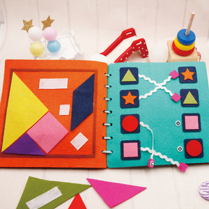 Image 4 - Mom Handmade My First Book 20X20CM Soft Felt Cloth Quiet Book Toys For Kids Early Learning Educational Felt Material DIY Package