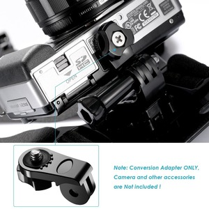 "Image 4 - 4 XUniversal 変換アダプタ 1/4 ""インチミニ三脚ネジの Gopro アクセサリー用ソニーと他のアクションカメラ"