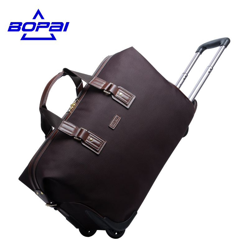 20 Inch leather Women travel luggage bag trolley wheeled bag Suitcase Women Rolling Case Baggage Suitcase Travel Duffle Tote vintage suitcase 20 26 pu leather travel suitcase scratch resistant rolling luggage bags suitcase with tsa lock