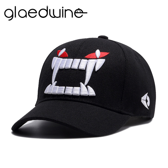 c077fbc5c4e Glaedwine High Quality Devil Hat Baseball Cap Monster Embroidery Baseball  Cap Men Snapback Hats For Men