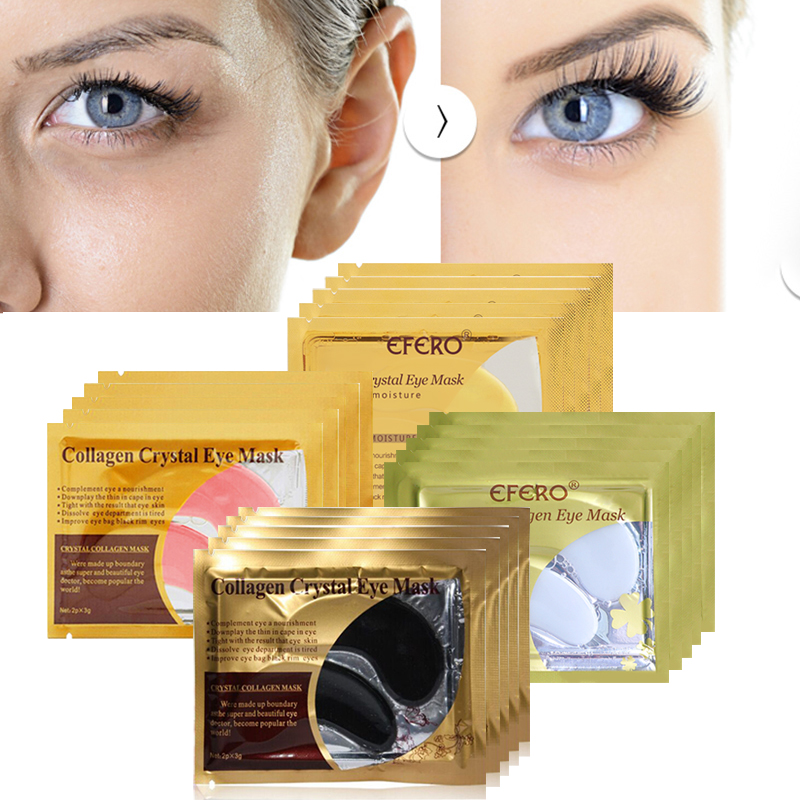 Set Of 2 Low World Shipping Shrink-Proof Gold Collagen Crystal Facial Mask-anti-aging