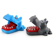 Small Size Hippo Shark Mouth Dentist Bite Finger Party Game Funny Animal Play Kids Gift Educational Toy Children Biting 8.4cm