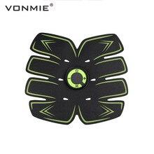 VONMIE Electro Estimulador Muscular S5C06 Abdomen Vibrating Slimming Belt Cellulite Tens USB Rechargable Machine EMS Trainer