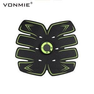 Image 1 - VONMIE Electro Estimulador Muscular S5C06 Abdomen Vibrating Slimming Belt Cellulite Tens USB Rechargable Machine EMS Trainer