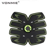 VONMIE electroestimulador Muscular S5C06, cinturón vibrador adelgazante para el Abdomen, máquina recargable por USB EMS Trainer