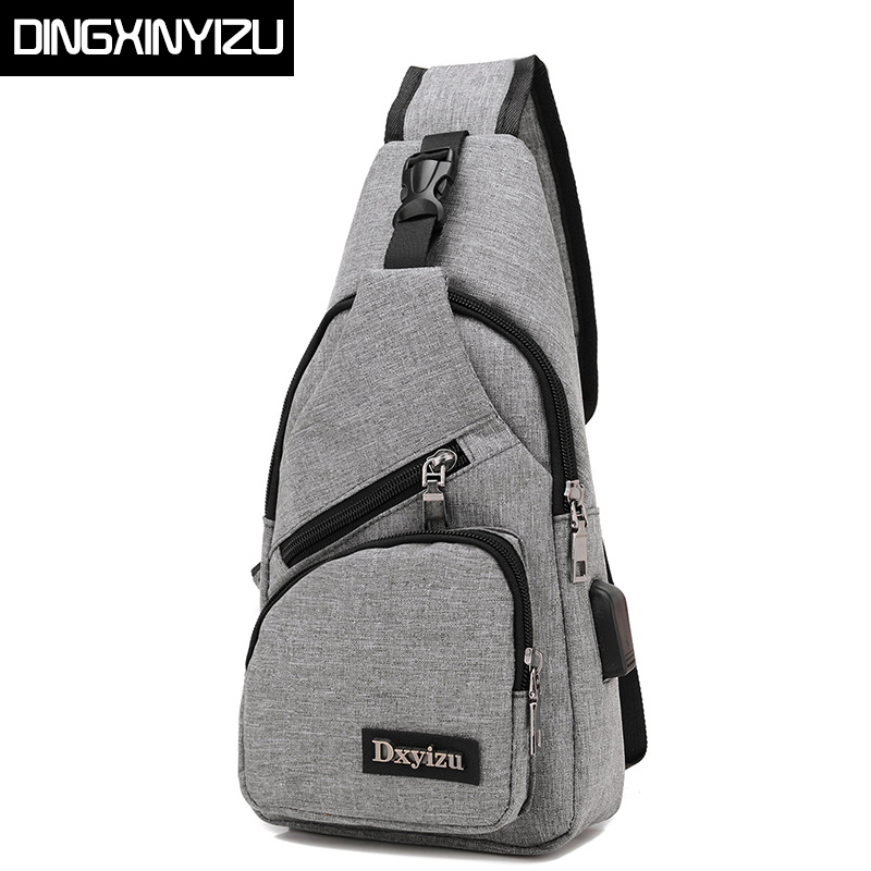 DINGXINYIZU Brand Canvas Men Chest Pack Crossbody Bag Casual Travel Rucksack Chest Bag Small Sling Bags Women Shoulder Back Pack miwind men chest pack leather genuine cowhide back bag crossbody bags women sling shoulder bag back pack travel bag tbp1148