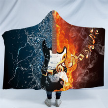 3D Guitar Hooded Blanket For Adults
