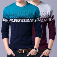 2018 Sweater Men Casual Sweaters Mens O Neck Knit Warm Pullover masculino homme Plus size 4XL Male Polo Sweaters