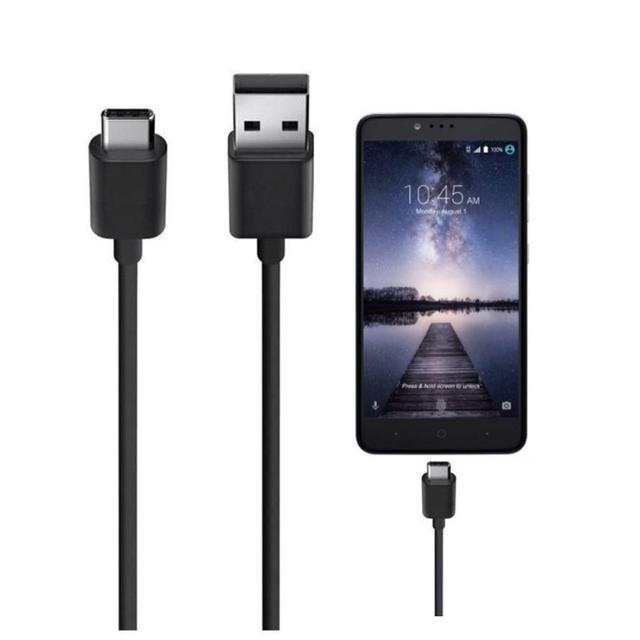 For LG Phone Cable 10PC USB-C USB 3.1 Type C Data Charge Charging Cable for LG G5 Black