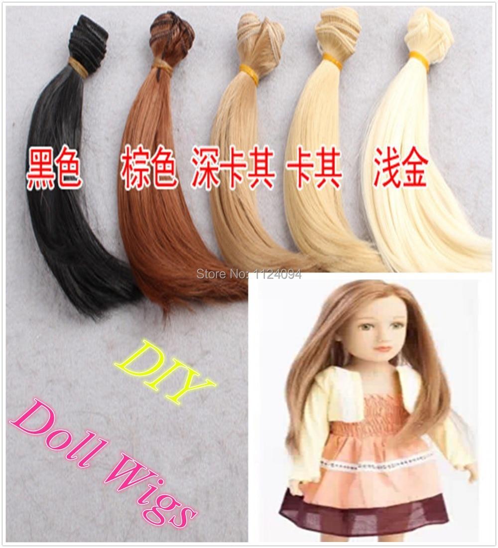 15 * 100cm 10st / lot Hot Sale Dolls Wig BJD SD DIY Rak Hår - Dockor och tillbehör - Foto 2